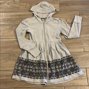 Pyramid Collection Hooded Tunic Dress